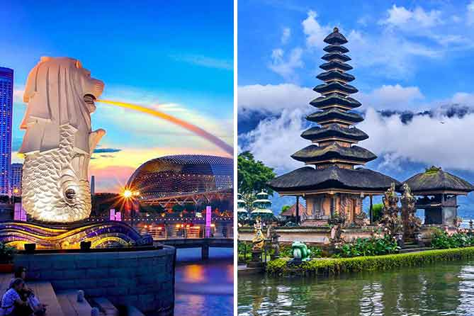 Romantic Singapore and Bali Tour Packages